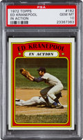 Baseball Cards:Singles (1970-Now), 1972 Topps Ed Kranepool IA #182 PSA Gem Mint 10 - Pop One of One!...