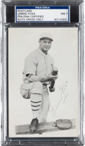 Autographs:Post Cards, Early 1930's Jimmie Foxx Signed Photograph Postcard, PSA/DNA NearMint 7....