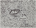 Boxing Collectibles:Autographs, Circa 2006 Muhammad Ali Signed Original Drawing of Frazier Fight....