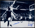 Basketball Collectibles:Photos, Bill Russell & John Havlicek Signed The Steal OversizedPhotograph. ...
