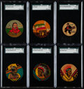 "Non-Sport Cards:Lots, 1930's R79 Leader Novelty ""Candy Leader"" Discs Collection (26). ..."