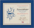 Miscellaneous Collectibles:General, 1988 Florence Griffith-Joyner Olympic Track & Field MemberCertificate....