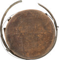 Military & Patriotic:Civil War, Confederate Wooden Drum Canteen Captured by Silas D. Whitney, C Company, Illinois 7th Cavalry, Chattanooga, 1863....