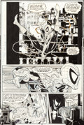 "Original Comic Art:Panel Pages, Todd McFarlane Amazing Spider-Man #316 ""Dead Meat"" Page 24 Original Art in Display Case (Marvel, 1989)...."