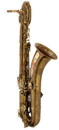 Musical Instruments:Horns & Wind Instruments, 1935 H.N. White King Zephyr Brass Baritone Saxophone, Serial # 179716....