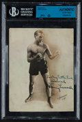 Boxing Collectibles:Autographs, Benny Leonard Signed Photograph....