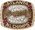 Baseball Collectibles:Others, 1996 Atlanta Braves National League Championship Ring....