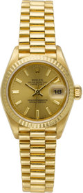 Estate Jewelry:Watches, Rolex Lady's Gold Oyster Perpetual Datejust Wristwatch. ...