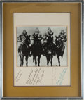 Football Collectibles:Photos, The Four Horsemen of Notre Dame Signed Photograph Display....