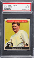 Baseball Cards:Singles (1930-1939), 1933 Sport Kings Babe Ruth #2 PSA EX 5....