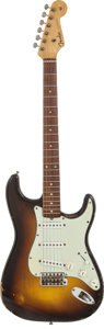 Musical Instruments:Electric Guitars, 1959 Fender Stratocaster Sunburst Solid Body Electric Guitar,Serial # 47666....