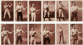 Boxing Cards:General, Extremely Rare 1890's N310 Mayo Boxers Uncut Six-Card Panels. ...