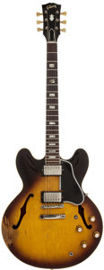 Musical Instruments:Electric Guitars, 1962 Gibson ES-335 Sunburst Semi-Hollow Body Electric Guitar,Serial # 90509....