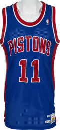 Basketball Collectibles:Uniforms, 1989-90 Isiah Thomas Game Worn Detroit Pistons Jersey. ...