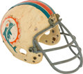 Football Collectibles:Helmets, Early 1970's Nick Buoniconti Game Worn, Signed Miami Dolphins Helmet....