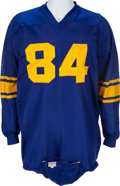 Football Collectibles:Uniforms, Circa 1955-56 Los Angeles Rams Game Worn Jersey, Attributed to Leon Clarke and/or Andy Robustelli....