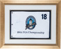 Golf Collectibles:Autographs, 2007 Tiger Woods Signed PGA Championship Flag....