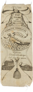 Political:Ribbons & Badges, William Henry Harrison: Exceptional Wheeling, Virginia Ribbon....