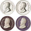 Political:Tokens & Medals, Grant & Colfax: Set of Four Ultra High Relief Medals....