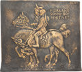 Antiques:Decorative Americana, James Earle Fraser: Whitney Siblings Bronze Plaque....