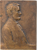 Political:3D & Other Display (1896-present), Abraham Lincoln: Victor David Brenner Bronze Plaque....