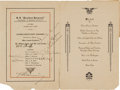 "Transportation:Aviation, Amelia Earhart: ""Friendship"" Crew Signed Ship's Menu...."