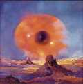 Illustration:Science Fiction, PAUL LEHR (American b.1930). Eye Over the Desert, 1991.Acrylic on board . 24in. x 24in.. Signed at the lower left. ...