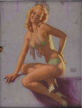 Illustration:Pin-Up, EARL MORAN (American 1893-1984) . No Infringement, alsoknown as See For Yourself, c. 1949 . Pastel on illustration...