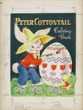 Paintings, ANNE SCHEUBERRY (American 20th Century) . Peter Cottontail Coloring Book, c. 1953 . Gouache on illustration board . 15.5... (Total: 2 Items Item)