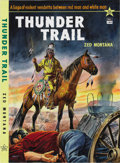 Illustration:Books, WALT (English 20th Century) . Thunder Trail, c. 1955 .Gouache on illustration board . 21in. x 15.5in. . Signed lowerle...