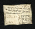 Colonial Notes:Georgia, Georgia 1776 $1/2 Choice About New+++. The faintest of folds isfound on this beautiful fractional denomination Georgia note...