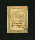 Colonial Notes:Pennsylvania, Pennsylvania October 1, 1773 20s About New. A barely noticeablehorizontal center fold is coaxed out of hiding on this color...