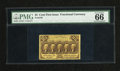 """Fractional Currency:First Issue, Fr. 1279 25c First Issue PMG Gem Uncirculated 66. Yet another PMG note in this section with the comment """"Exceptional Paper Q..."""
