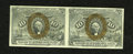 Fractional Currency:Second Issue, Fr. 1245 10¢ Second Issue Horizontal Pair About New. This is a bright and well margined horizontal pair, with the additional...