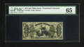 Fractional Currency:Third Issue, Fr. 1358 50c Third Issue Justice PMG Gem Uncirculated 65. Simply a stunning Justice note that is seen here in a very unusual...