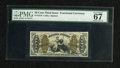 Fractional Currency:Third Issue, Fr. 1370 50c Third Issue Justice PMG Superb Gem Unc 67. An utterlysuperb gem example of this difficult fiber paper type tha...