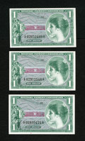 Military Payment Certificates:Series 651, Three Notes Series 651 $1 Gem New. Three Gem One Dollar notesissued from 1968 through 1973.... (Total: 3 notes)