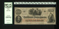 Confederate Notes:1862 Issues, T41 $100 1862. The signatures remain on this note that features anInterest Paid To at Raleigh, NC stamp on back. PCGS Ver...