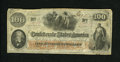 Confederate Notes:1862 Issues, T41 $100 1862. This Very Fine C-note is of the Scroll 1persuasion....