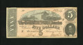 Confederate Notes:1864 Issues, T69 $5 1864. A center fold and paper clip mark are all that are noticed on this CSA issue. Extremely Fine-About Uncirculat...