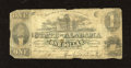 Obsoletes By State:Alabama, Montgomery, AL - State of Alabama $1 Jan. 1, 1863. This note hasedge furling. Very Good....