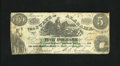 Obsoletes By State:Alabama, Montgomery, AL- State of Alabama $5 Jan. 1, 1864. This note with aoverseer vignette was printed by Confederate printer J.T....