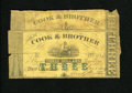 Obsoletes By State:Louisiana, New Orleans, LA- Cook & Brother $3 Aug. 1, 1862 Two Examples. Both notes grade Good, with one note being backed with con... (Total: 2 notes)