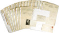 Boxing Collectibles:Autographs, 1910-28 William Muldoon Signed Letters Lot of 15. Thrilling archiveof correspondence derives from the desk and mind of Wil...