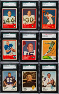 Football Cards:Sets, 1960, 1961 and 1963 Fleer Football Sets Trio (3). ...