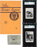 Baseball Cards:Sets, Rare 1929 Rogers Peet Album and Two Uncirculated Cards. ...