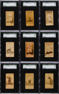 Baseball Cards:Lots, 1887 N172 Old Judge Collection (9) - All Philadelphia Players. ...