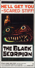 "Movie Posters:Science Fiction, The Black Scorpion (Warner Brothers, 1957). Three Sheet (41"" X79""). Science Fiction.. ..."