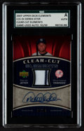 Autographs:Sports Cards, 2007 Upper Deck Elements Clear Cut Elements Derek Jeter#CCE-DJ SGC Authentic. ...