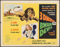 "Movie Posters:Adventure, Bwana Devil (United Artists, 1953). Half Sheet (22"" X 28"") 3-DStyle A & Uncut Pressbook (12 Pages, 11"" X 17"") 3-D Style.Ad... (Total: 2 Items)"